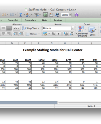 Staffing Model Excel Images Frompo 1 Template Call Center