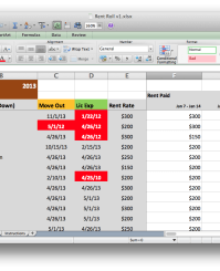 Rent Roll Screenshot in Excel